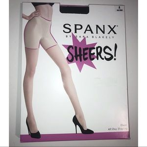 Spanx All Day Shaping Sheers Very Black Sz A. NEW